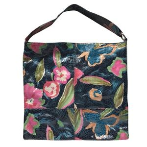 Hobo ELLAH leather tote in TROPICAL GARDEN